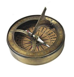 Authentic Models Survival Compass 1 Authentic Models, 18th C. Sundial & Compass - Aged Finish in Hand-Buffed Duotone