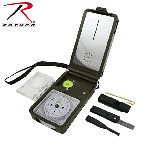 Rothco Survival Compass 1 Rothco Multi-Function Compass Kit, Olive Drab