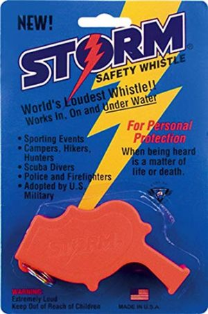 Rothco  1 Rothco Storm Safety Whistle/ Safety Black