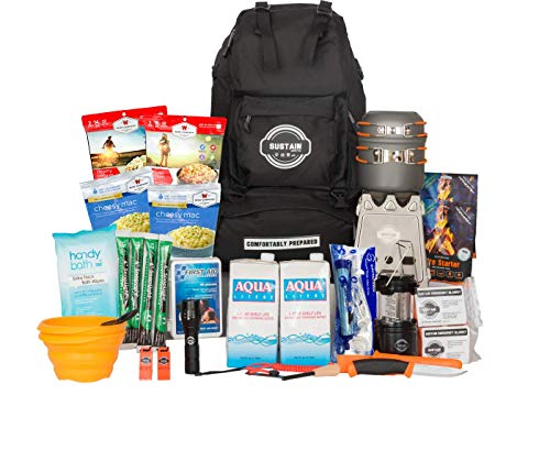 Sustain Supply Co.  1 Sustain Supply Co. Premium Emergency Survival Bag/Kit - Be Equipped with 72 Hours of Disaster Preparedness Supplies for 2 People