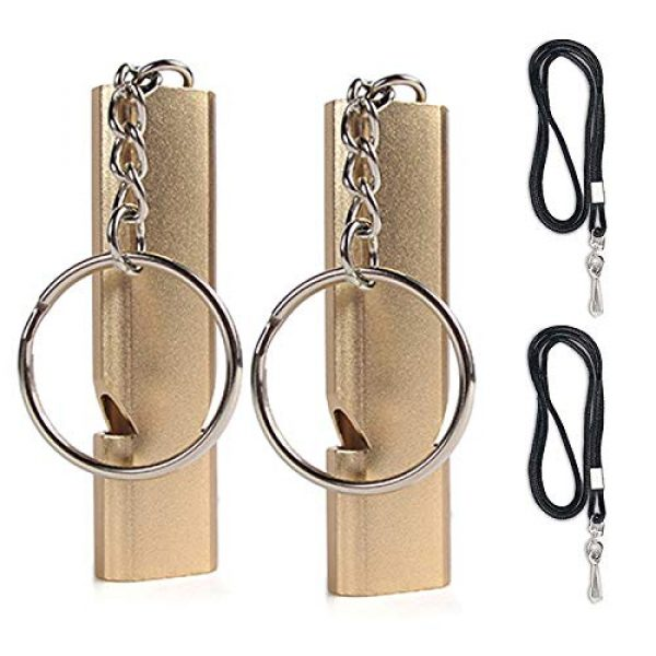 Talent Star Survival Whistle 1 Talent Star Whistles, Emergency Whistle with Lanyard Double Tubes and Keychain 2 Pack Security Survival Whistle for Climbing Hiking Climbing Hiking Camping Fishing