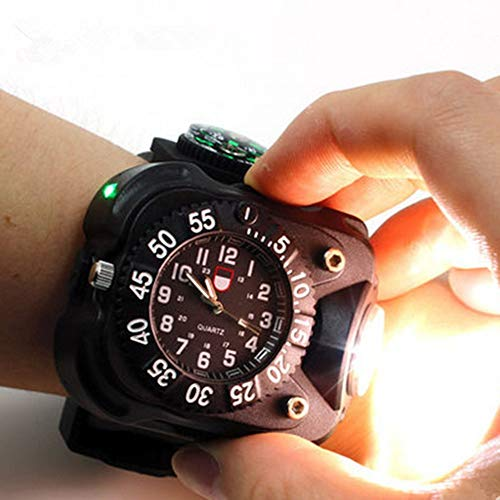 FomaTrade  1 FomaTrade Super Bright Wrist LED Light Rechargeable Waterproof LED Flashlight Wristlight