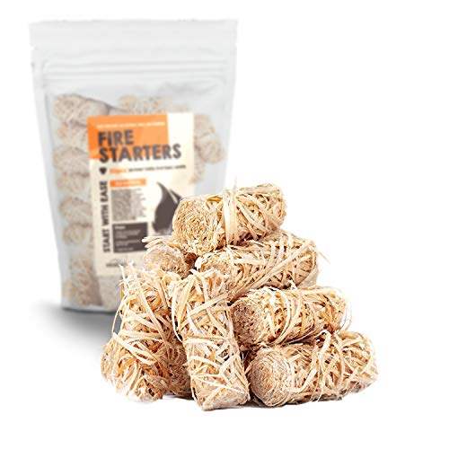 VENTUR Survival Fire Starter 1 Ventur Wax Fire Starters | 50 Pack of Tumbleweeds | 8 Minute Burn