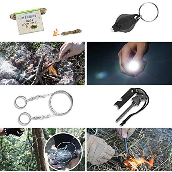 SUPOLOGY Survival Kit 6 SUPOLOGY Emergency Survival Gear Kits, 23-in-1 Tactical Tools Kit Outdoor Camping Gear with Water Filter for Camping, Hiking, Adventures, Backpack, Fishing, Hurricane, Gifts for Men Fathers Day