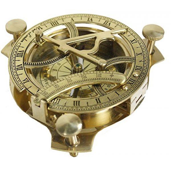 Zap Impex Survival Compass 1 Zap Impex Sundial Compass-Brass Metal Compass Sundial (Size- 3 Inch)