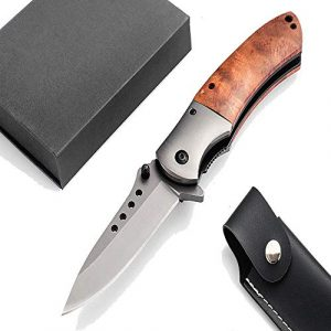 Deceny CB  1 Deceny CB Folding Knife Pocket Knife Outdoor Survival Knife Rescue Knife Tactical Folding Knife with Sheath for Camping Hunting Survival and Outdoor