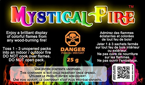 Mystical Fire  1 Mystical Fire Flame Colorant Vibrant Long-Lasting Pulsating Flame Color Changer for Indoor or Outdoor Use 0.882 oz. Packets 2 Pack