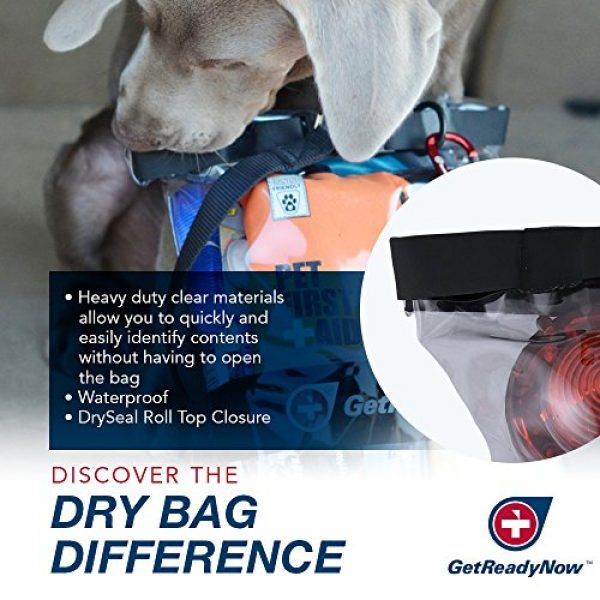 GetReadyNow Survival Kit 5 GETREADYNOW Pups & Peeps Emergency Survival Kits - Essential First Aid + Deluxe Supplies to Keep Your Four-Legged Friend Safe While on The Road, Camping, Hiking, or Unexpected Dog Park Emergencies