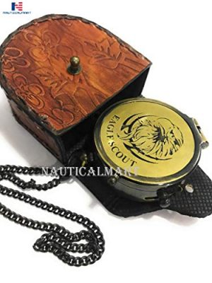 NauticalMart  1 Eagle Compass Engraved Vintage Style Working Compass Gift
