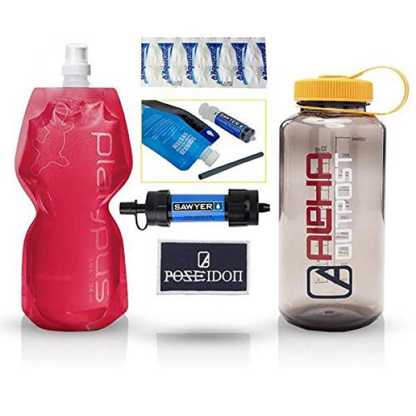 Alpha Outpost Survival Water Filter 1 Alpha Outpost The Poseidon Box: All in 1 Water Filtration Kit