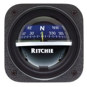 E.S. Ritchie Survival Compass 1 E.S. Ritchie V-537B Ritchie V-537B Explorer Compass - Bulkhead Mount - Blue Dial