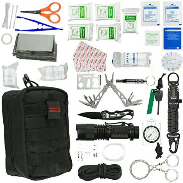 Holtzman's Gorilla Survival Survival Kit 2 Emergency Survival Kit | Ultimate 98-in-1 Outdoor Multi-Tools for Camping, Hiking, Hunting & Fishing | First Aid Supplies | All Inclusive Survival Gear with Box for Campers & Preppers