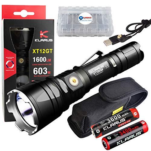 klarus  1 klarus XT12GT Rechargeable LED Flashlight with 18650 Battery