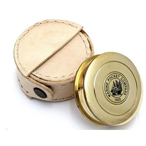 THORINSTRUMENTS Survival Compass 1 THORINSTRUMENTS (with device) Robert Frost Brass Poem Compass-Pocket Compass w Leather Case