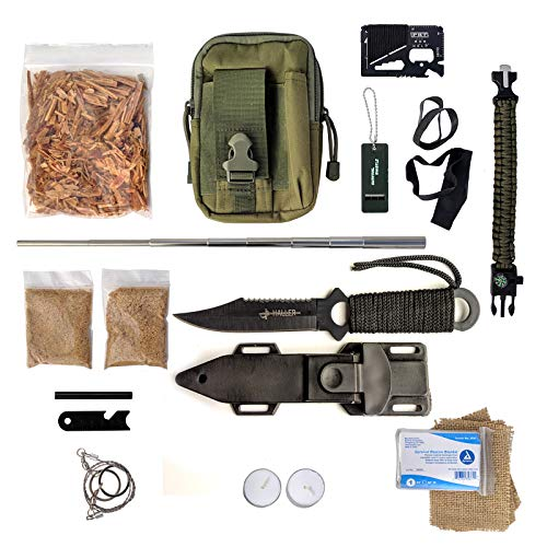 PBL Survival Fire Starter 1 PBL Molle Bag Survival Kit Fatwood Ferro Rod Bushcraft Emergency
