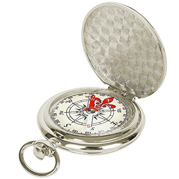 ydfagak Survival Compass 1 ydfagak Compass Premium Portable Waterproof Hiking Navigation Compass with Glow in The Dark Perfect for Camping Hiking and Other Outdoor Activities (Silver)