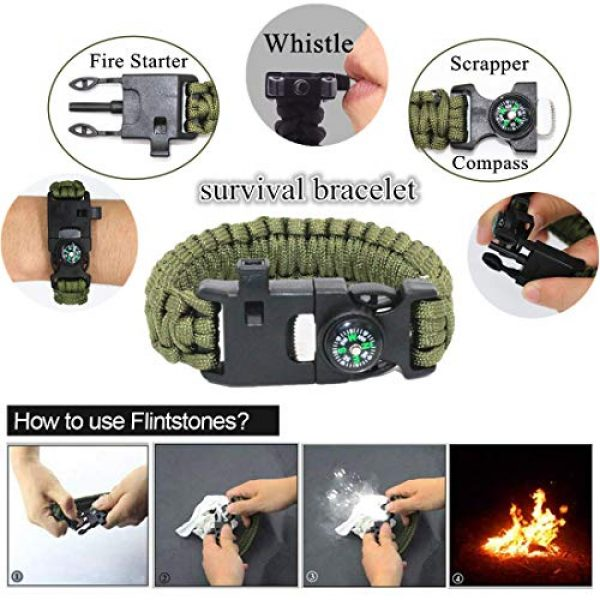 TRSCIND Survival Kit 2 Gifts for Dad Men Him Husband Fathers Day, Survival Gear and Equipment, Survival Kit 11-in-1, Birthday Gifts for Men Boyfriend Teen Boy, Fun Gadget, Men Gifts Ideas, Official EDC Survival Kit