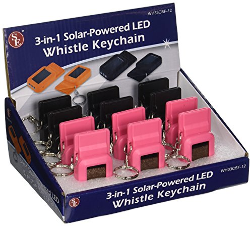 SE  1 SE 3-in-1 Solar-Powered LED Whistles with Keychains (12-Pack) - WH33CSF-12