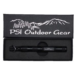 PSI Outdoor Gear Survival Fire Starter 1 Survival Gear Flint Magnesium Fire Starter Emergency Kit with a Steel Firestarter Tool and Camping Equipment with Compass & Tinder