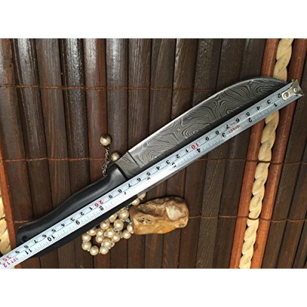 Perkin Fixed Blade Survival Knife 6 Perkin - Custom Handmade Damascus Hunting Knife with Sheath - Survival Knife