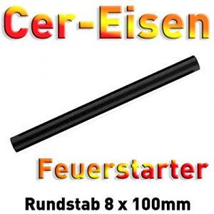 Light In The Dark  1 Light In The Dark 3/4'' Monster Ferro Rod with Sharp Striker Survival Fire Starter