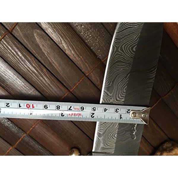 Perkin Fixed Blade Survival Knife 7 Perkin - Custom Handmade Damascus Hunting Knife with Sheath - Survival Knife