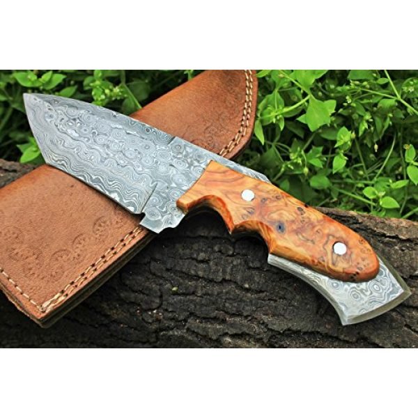 """DKC Knives Fixed Blade Survival Knife 1 DKC Knives (17 5/18) Sale DKC-85 Tomcat Damascus Skinner Hunting Knife 9"""" Long 4.5"""" Blade 11.2oz High Class Looks Incredible Feels Great in Your Hand and Pocket Hand Made"""