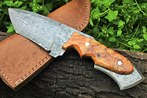 """DKC Knives  1 DKC Knives (17 5/18) Sale DKC-85 Tomcat Damascus Skinner Hunting Knife 9"""" Long 4.5"""" Blade 11.2oz High Class Looks Incredible Feels Great in Your Hand and Pocket Hand Made"""