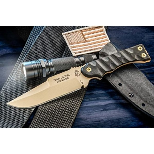 TOPS Knives Fixed Blade Survival Knife 1 Tops Knives TMJK5S Team Jackal Survivor