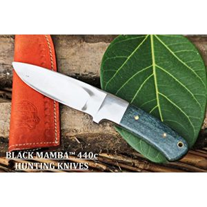 BLACK MAMBA KNIVES Fixed Blade Survival Knife 1 BLACK MAMBA KNIVES BMK-144 Green Fish 4.5 Inches Blade 440c Stainless Steel Hunting Knife Mirror Polished