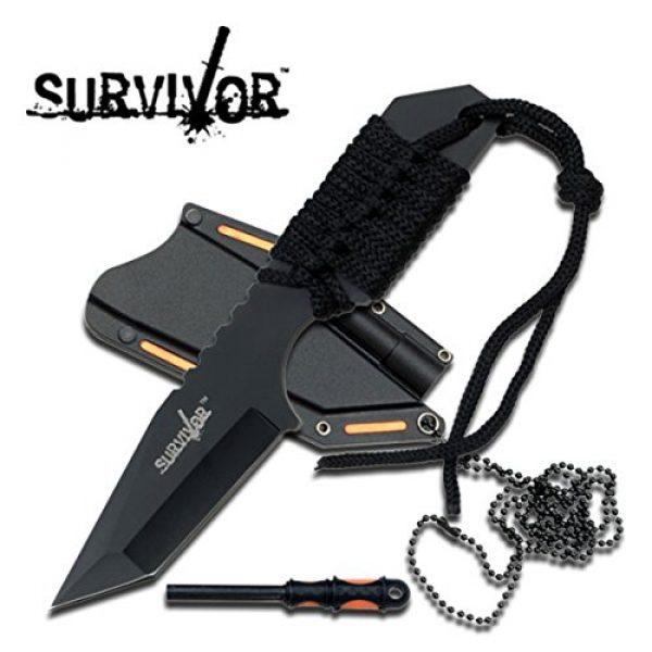 "Survivor Fixed Blade Survival Knife 1 Survivor HK-762BK Fixed Blade Knife, 7"""