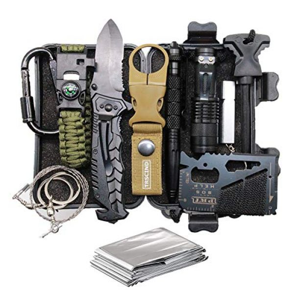 TRSCIND Survival Kit 1 Cool & Unique Fathers Day Birthday Gifts for Him Men Husband Dad Boyfriend, Fun Gadget Mens Gifts Ideas, 11-in-1 Survival Gear Kits, EDC Emergency Tools and Everyday Carry Gear, Official Survival Kit