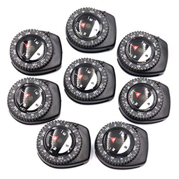 DETUCK Survival Compass 1 DETUCK(TM) Mini Compass Little Clip Compass Magnetic Bearing Compasses Wrist Compass Handy Button Compass Set for Watchband,Wristband,Bracelets,Maps,Straps,Sleeve,etc (Pack of 8)