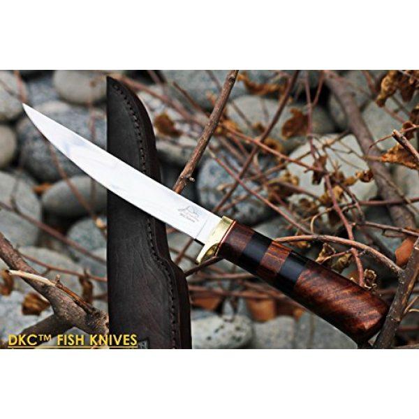 "DKC Knives Fixed Blade Survival Knife 1 (4 9/18) Sale DKC-610 Sale Black Doucette Fishing Filet Knife Mirror Finish Steel Blade Hunting Handmade Knife Fixed Blade 5.9 oz 11"" Long 6"" Blade"