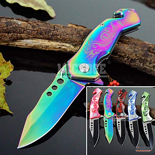 KCCEDGE BEST CUTLERY SOURCE  1 KCCEDGE BEST CUTLERY SOURCE EDC Pocket Knife Camping Accessories Razor Sharp Edge Drop Point Blade Folding Knife Camping Gear Survival Kit 58595