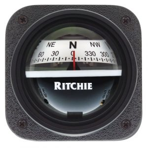 E.S. Ritchie  1 Ritchie V-537W Explorer Compass - Bulkhead Mount - White Dial