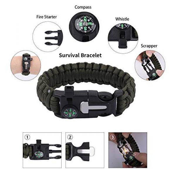 RUIJIA Survival Kit 6 RUIJIA Survival Kit 12 in 1, Survival Gear Accessories Wise Outdoor Emergency Tactical Defense Equipment Tools, Emergency Gear for Camping, Hiking, Hunting, Climbing, Fishing, Pefect Gifts for Family