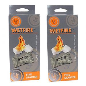 Ultimate Survival Technologies Survival Fire Starter 1 2 Packages of 12 WetFire Fire Starter Tinders by Ultimate Survival Technologies UST