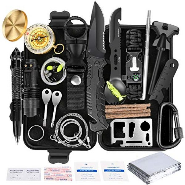 Gemagic Survival Kit 1 Survival Kit 35 in 1, First Aid Kit, Survival Gear, Survival Tool Gifts for Men Boyfriend Him Husband Camping, Hiking, Hunting, Fishing