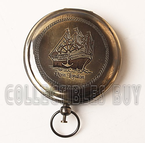 collectiblesBuy  1 Collectibles Buy Nautical Ross London Brass Round Pocket Compass Marine Navigational Royal Device Gift Item