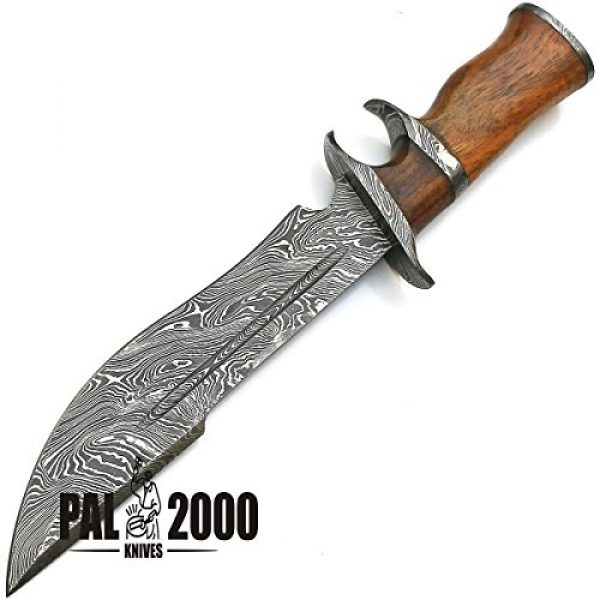 PAL 2000 KNIVES Fixed Blade Survival Knife 6 Sub Hilt Custom Handmade Damascus Steel Hunting Bowie Knife -Sword/Chef Kitchen Knife/Dagger/Full Tang/Skinner/Axe/Billet/Folding Knife/Kukri/knives accessories/survival/Camping With Sheath 9155