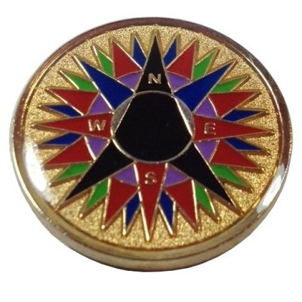 geocoindepot Survival Compass 1 25 Compass Rose METAL Geocoin Geotokens Geocoins