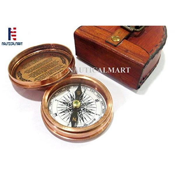 NauticalMart Survival Compass 1 NauticalMart Brass Compass - Poem Engraved Compass - Megnatic Compass - Unique Vintage Gift - Camping Compass - Boating Compass - Gift Compass - Graduation Day Gifts - Husband - Father - Keepsake