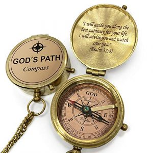 OakiWay  1 OakiWay Religious Gifts - God's Path Compass - Christian Gifts for Men