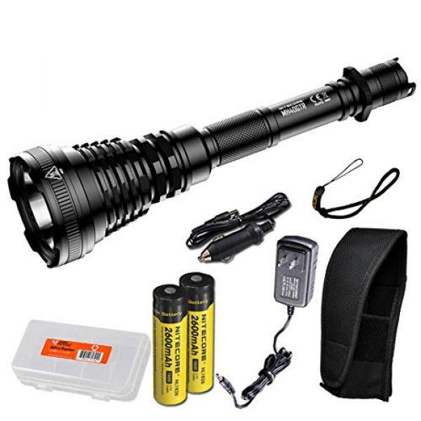 Nitecore Survival Flashlight 1 Nitecore MH40GTR Ultra Long Throw Rechargeable Hunting Flashlight Adapter LumenTac Battery Organizer
