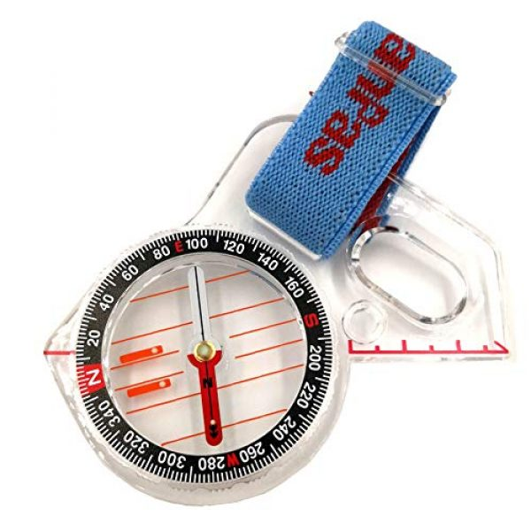 KanPas Survival Compass 1 Basic Training Competition Thumb Orienteering Compass for Foot Cross-Country Directional Movement