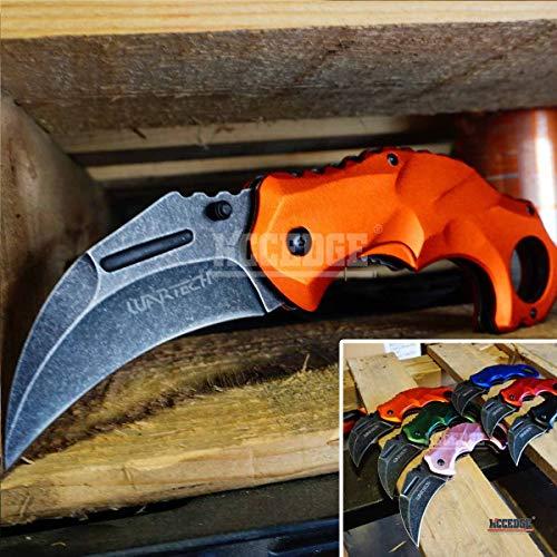 KCCEDGE BEST CUTLERY SOURCE  1 KCCEDGE BEST CUTLERY SOURCE Pocket Knife Camping Accessories Survival Kit Razor Sharp Edge Karambit Folding Knife EDC Camping Gear 56737