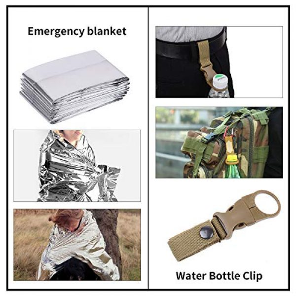 RUIJIA Survival Kit 5 RUIJIA Survival Kit 12 in 1, Survival Gear Accessories Wise Outdoor Emergency Tactical Defense Equipment Tools, Emergency Gear for Camping, Hiking, Hunting, Climbing, Fishing, Pefect Gifts for Family