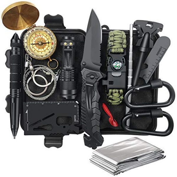TRSCIND Survival Shelter 1 Gifts for Men Dad Fathers Day, Survival Kit 14 in 1, Survival Gear, Fishing Hunting Birthday Gifts Ideas for Him Husband Boyfriend Teen Boy, Cool Gadget Stocking Stuffer, Emergency Camping Gear