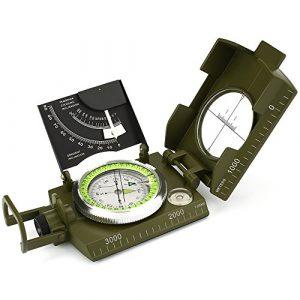 ydfagak  1 ydfagak Compass Waterproof Hiking Military Navigation Compass with Fluorescent Design